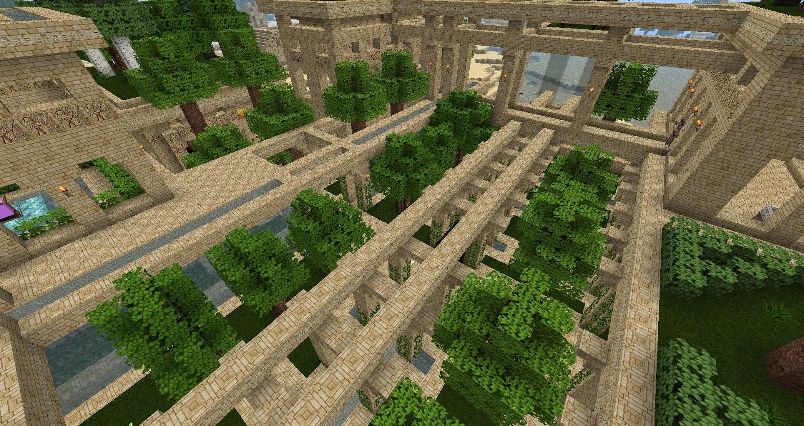 minecraft hanging gardens - Minecraft Garden Designs