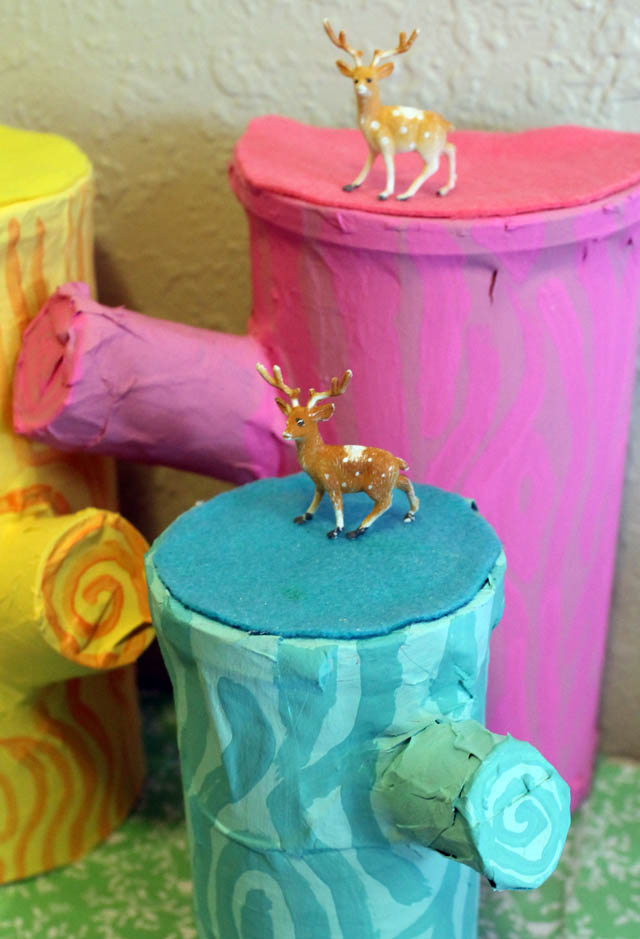 Punk projects recycled cardboard tree stumps diy for Diy tree stump projects