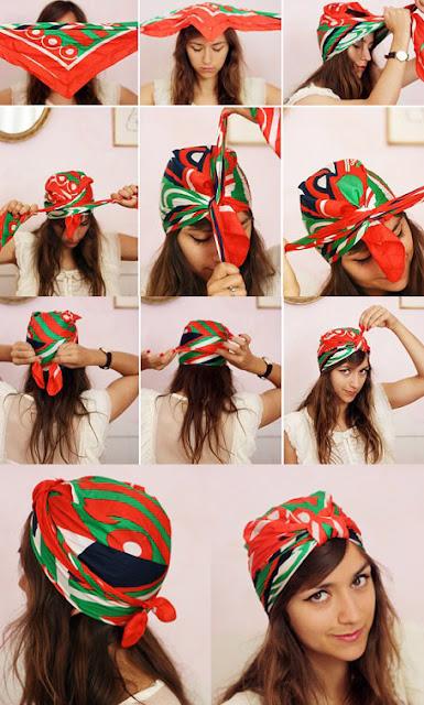 Cómo ponerse un pañuelo en la cabeza