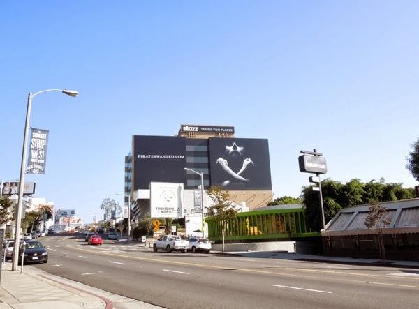 Pirates Wanted billboard Sunset Boulevard