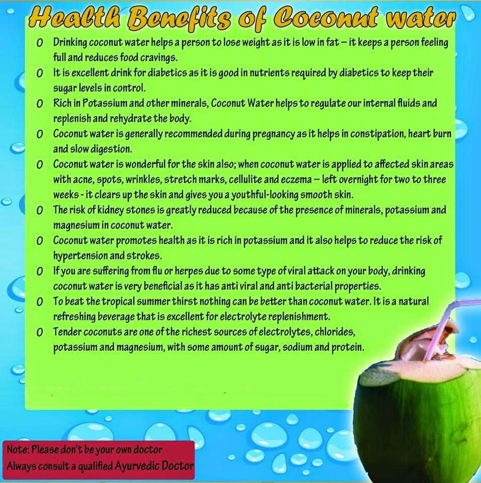 uses & benefits of ayurvedic: ayurvedic benefit of coconut water