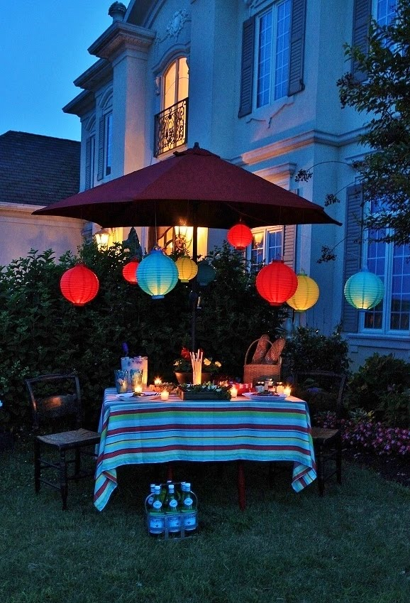 Lanterns in the Garden