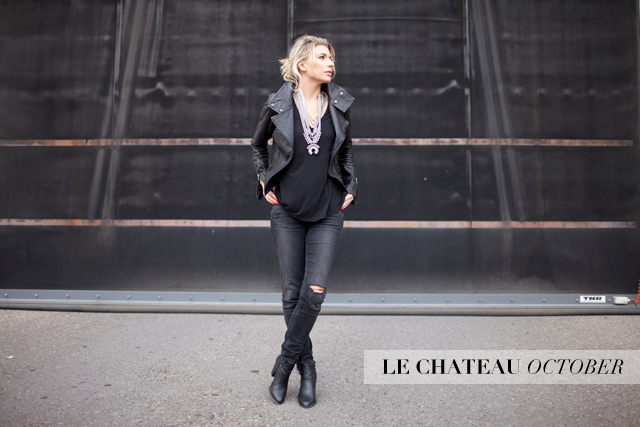 Dylanex Lennan Necklace, Le Chateau ankle booties
