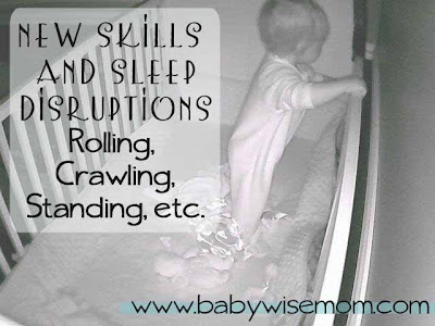 New Skills and Sleep Disruptions {Rolling, Crawling, Standing, etc.}