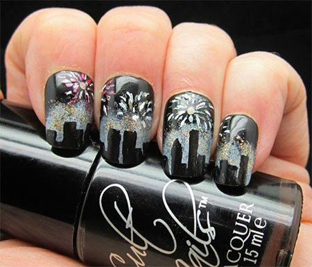 New year best nail art 2015httpnails sidespot happy new year nail art designs prinsesfo Choice Image