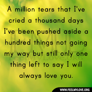 A million tears that I've cried a thousand days