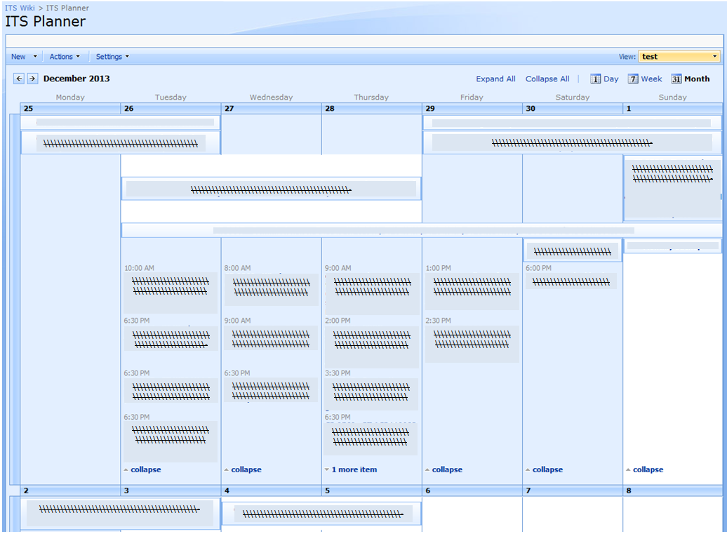 Sharepoint 2010 experiences expand calendar month view for Window onload javascript