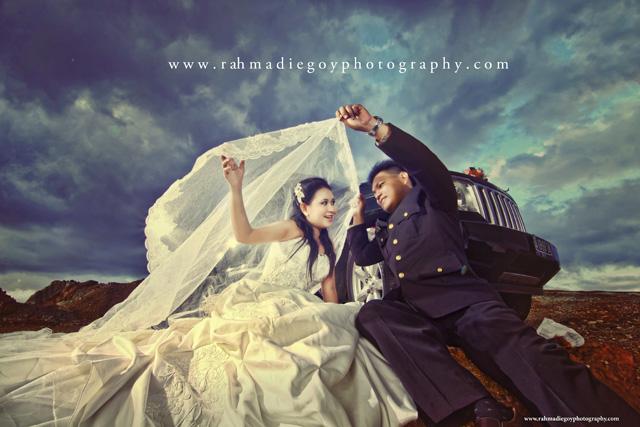 foto prewedding konsep tema polisi 6