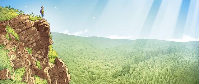 illustration réalisée pour promouvoir le lieu de la roche d'oetre