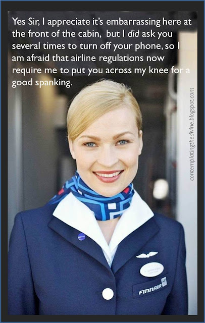 Spanking air stewardess