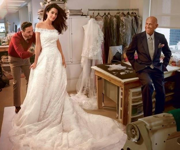 abiti da sposa vip, abito sposa amal alamuddin, oscar de la renta