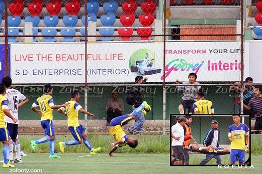 Pemain bola sepak meninggal dunia selepas tercedera tulang belakang ketika perlawanan
