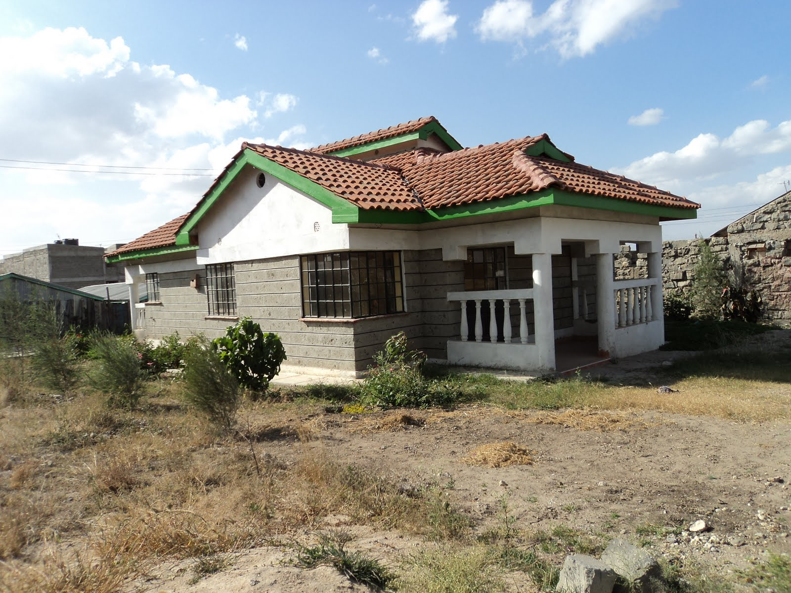 ... the house is in a 1 8acre plot electricity and water on site the house