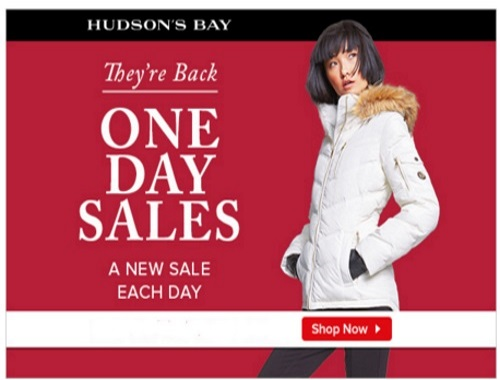 Hudson's Bay Famous One Day Sales