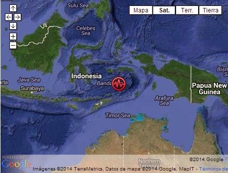 TERREMOTO 6,1 GRADOS SACUDE INDONESIA, 04 de Febrero 2014