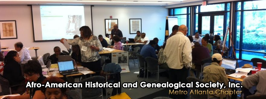 Afro-American Historical and Genealogical Society - Metro Atlanta Chapter