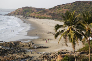 Vagator Beach in north Goa