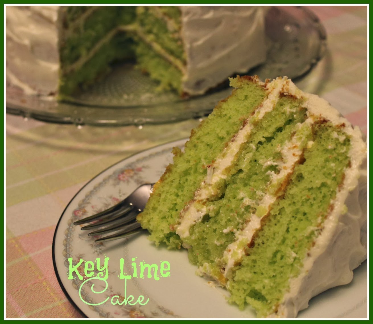 Key Lime Cream Cake Recipe
