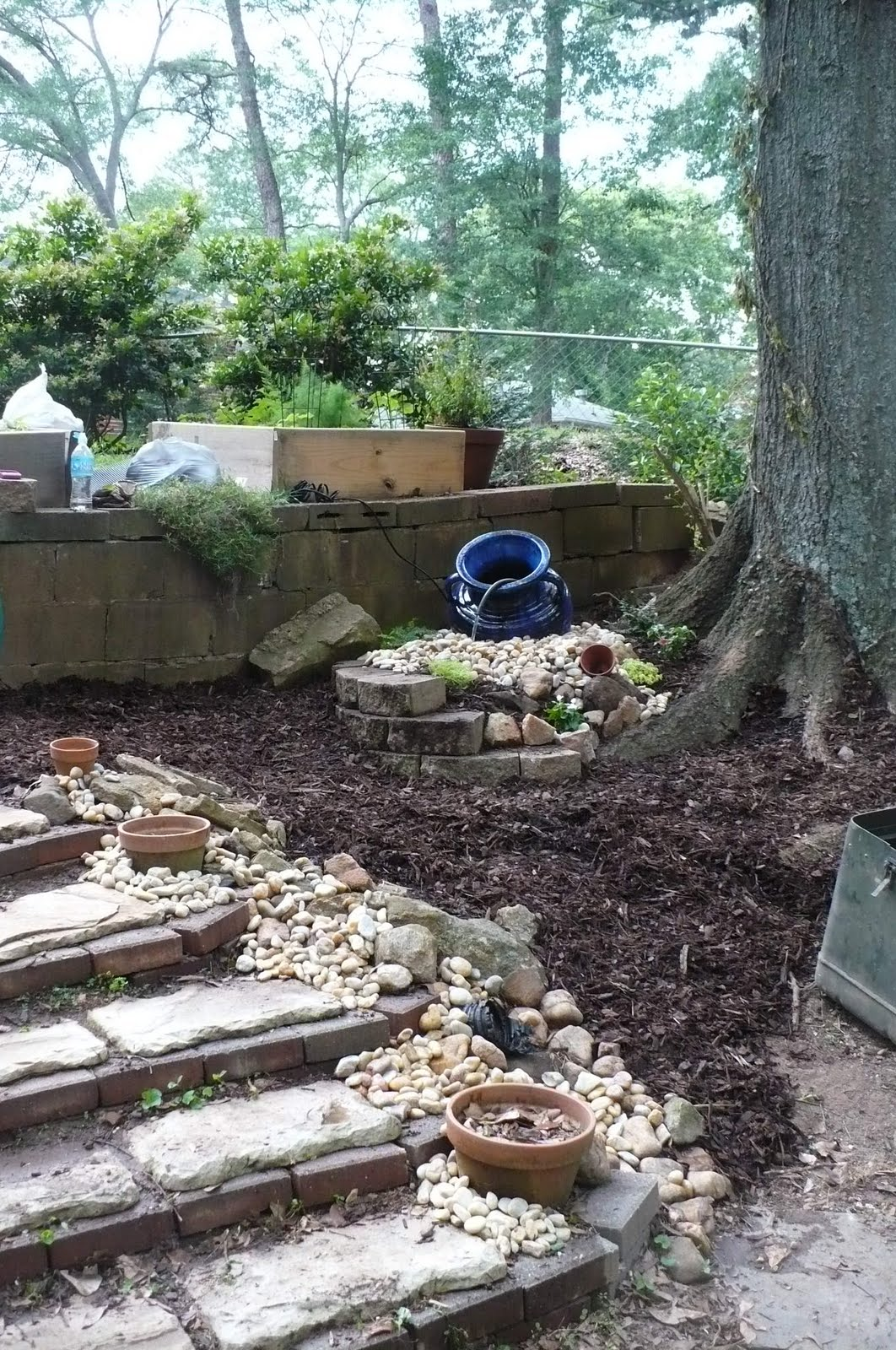 Landscaping Rock At Lowes : Egg rock lowe s ta da i also used a big from my yard as