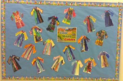 Charlotte's Clips and Kindergarten Kids: Joseph's Coat of Many Colors