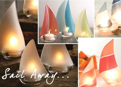 13 classic nautical designs that connect you to the sea completely coastal - Sailboat tealight holders ...
