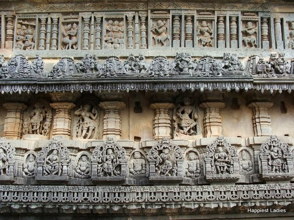 Belur Temple wall sculptures