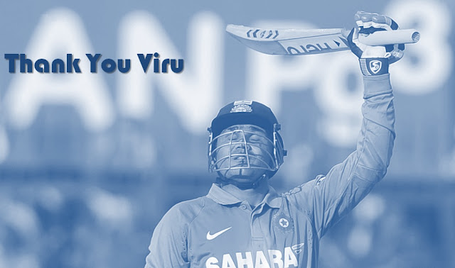 Virender Sehwag retires from Cricket #ThankYouViru