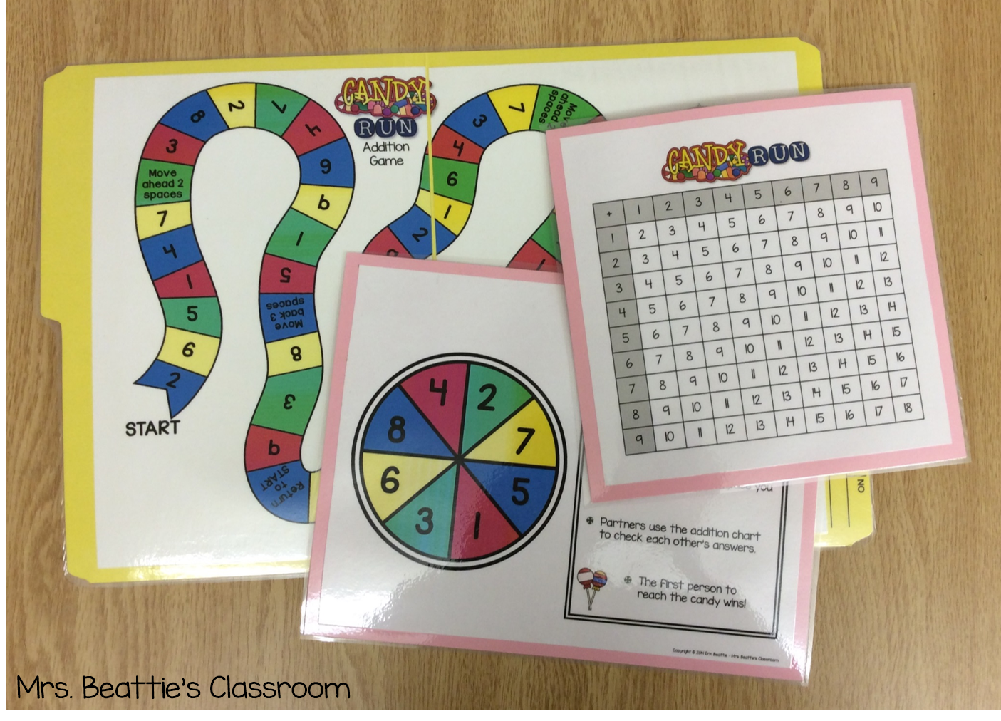 how to make a math board game project