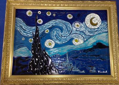 Trasparenze in luci colorate notte stellata di van gogh for Dipinto di van gogh notte stellata