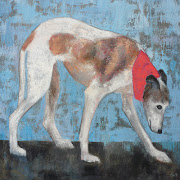 Whippet Walk. My favourite painting of 2012, sold by Alter Ego Gallery.