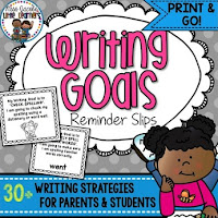 https://www.teacherspayteachers.com/Product/Writing-Goal-Reminder-Slips-for-parents-and-students-2159706