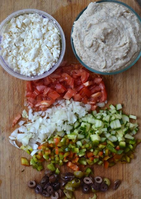 Healthier Mediterranean Nachos