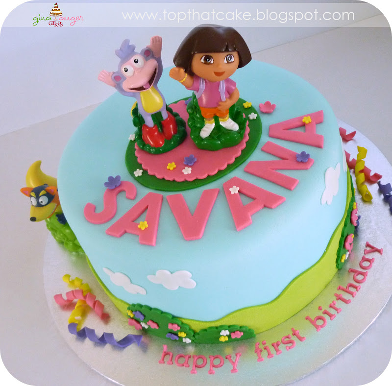 Top That Dora the Explorer First Birthday Cake