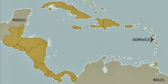 Dominica on the map