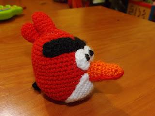 Angry bird rojo de ganchillo o crochet