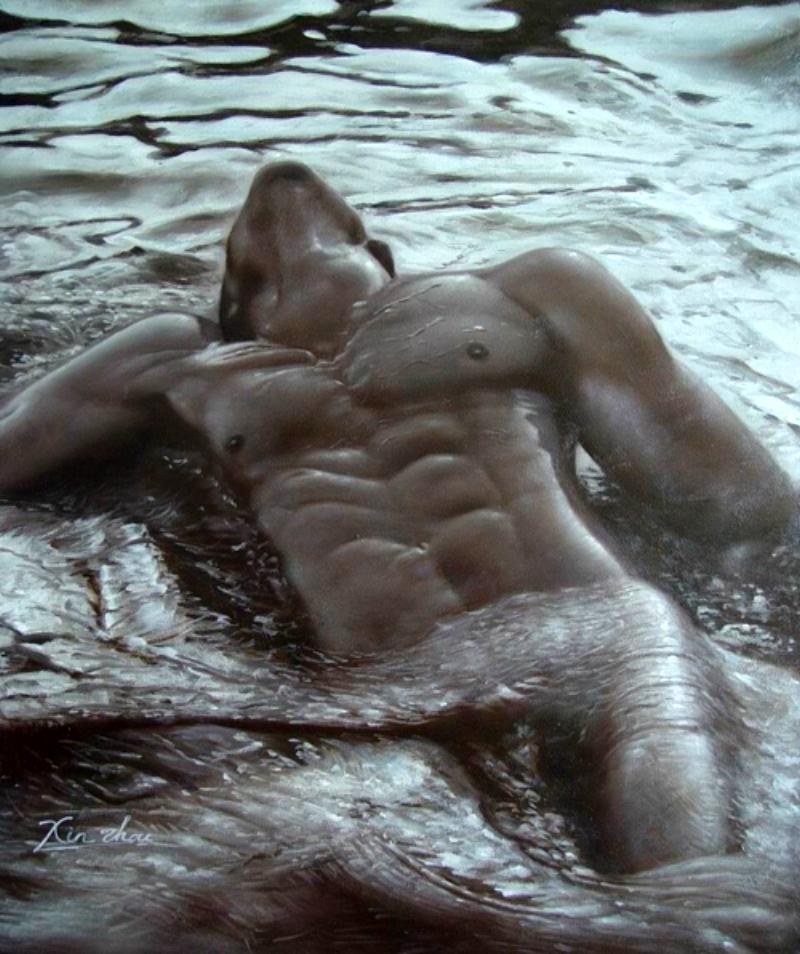 golie-muzhchini-v-vode-foto