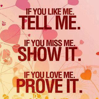 If you like me.Tell me.