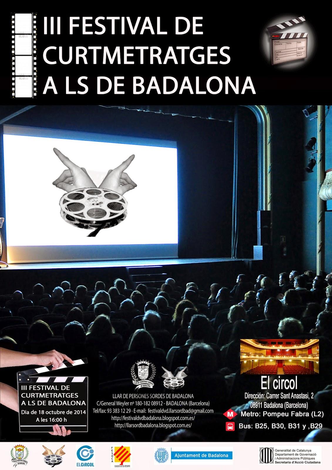 III Festival de Curtmetratges a LS de Badalona - 18 de octubre 2014 POSTER+III+DVD+4+catala+jpeg
