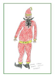 KES Christmas card - Santa