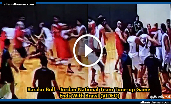 Barako Bull - Jordan National Team Tune-up Game Ends With Brawl (VIDEO)