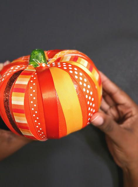 ribbon, pumpkins, crafts