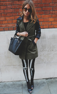 Millie Mackintosh, MIC, Missguided, Trench Coat, Khaki, Black, Faux Leather