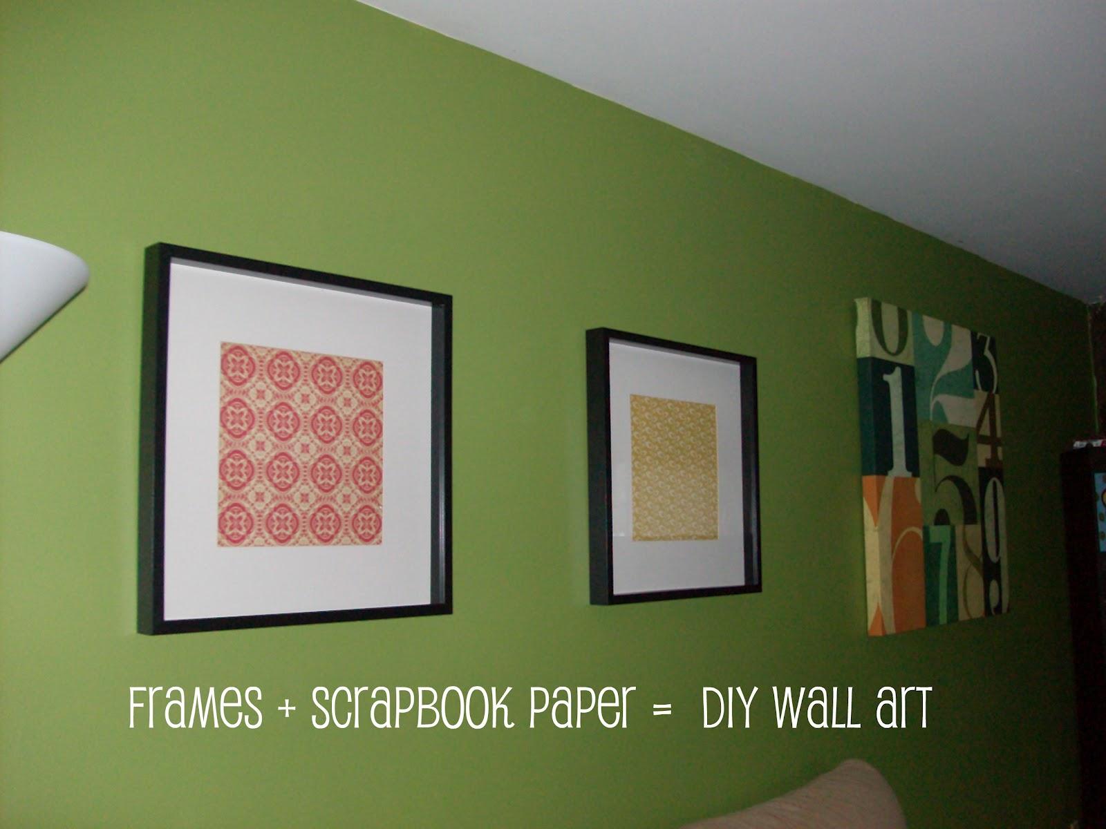 Diy Wall Art With Scrapbook Paper : A dozen years later frames scrapbook paper diy wall art