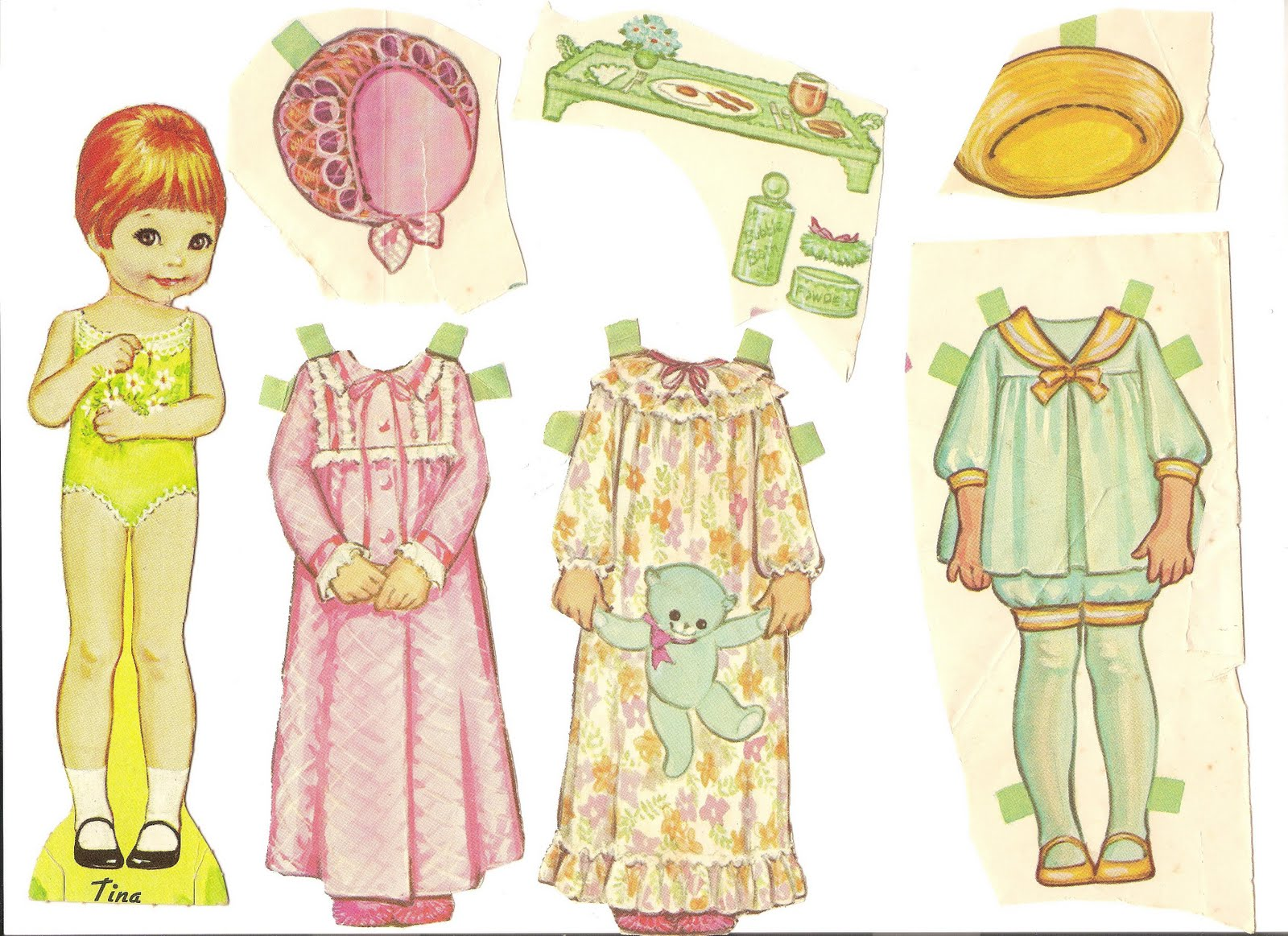 Mostly Paper Dolls: My TINA Paper Doll, 1967