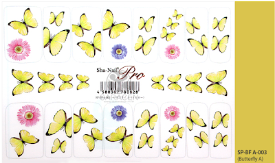 Flowers and Butterfly Nail Stickers, Real Photo Nail Stickers, Actual image Nail Stickers