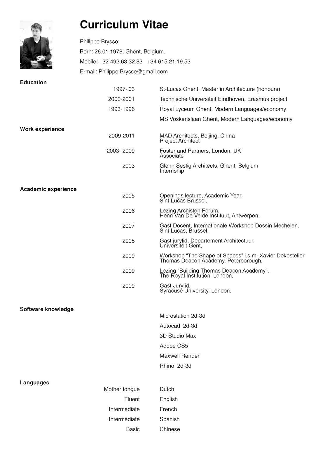 architects cv doc tk architects cv 24 04 2017