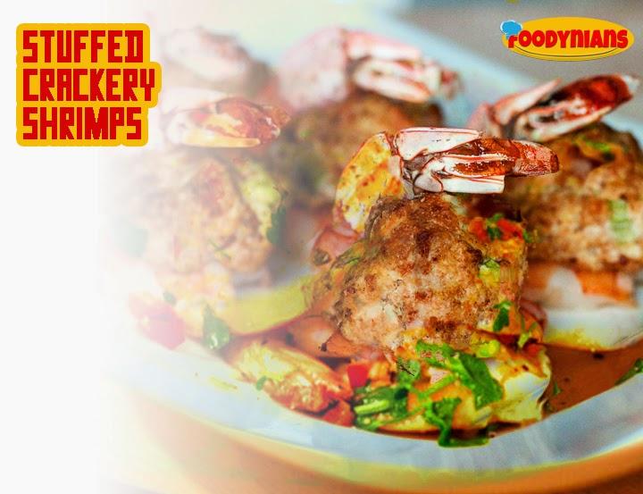 Stuffed Crackery Shrimps