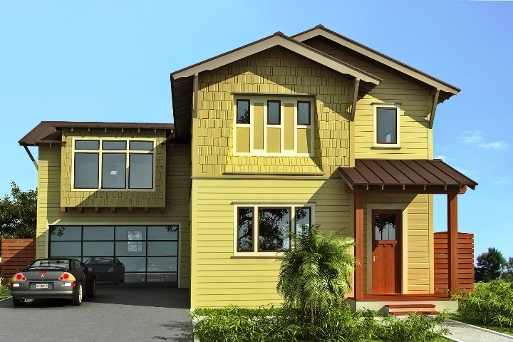 Exterior Wall Paint : Exterior wall painting color combination