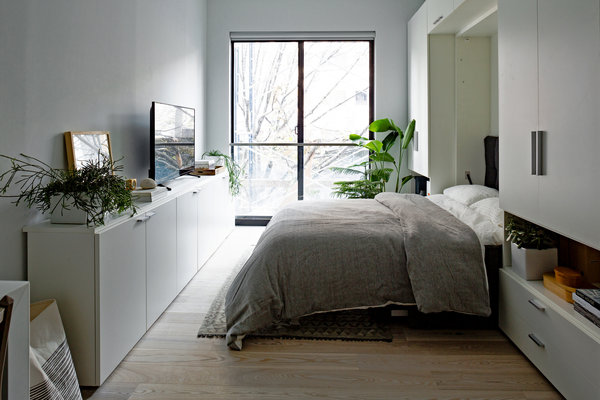 New York City micro apartment bedroom