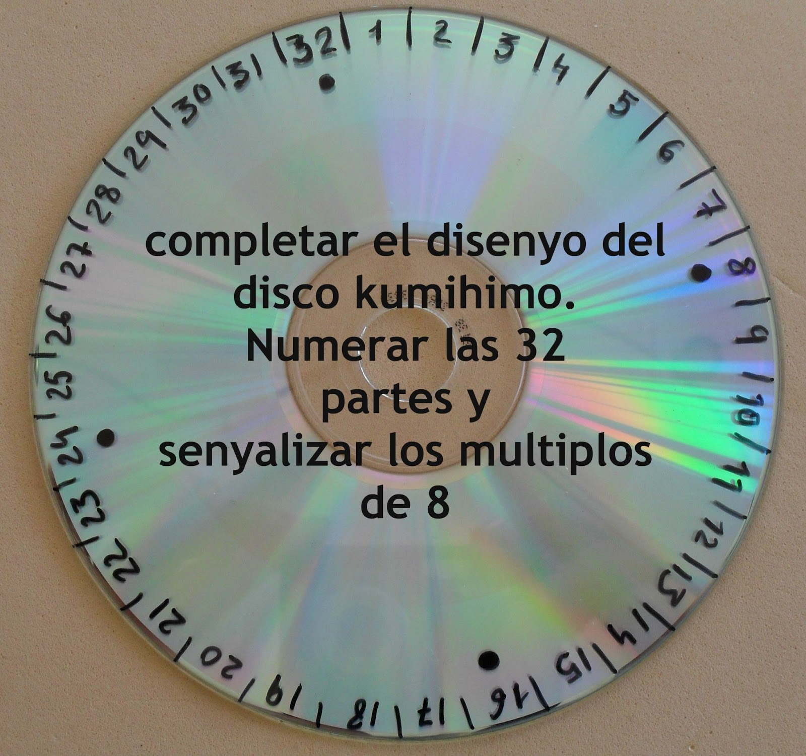 de bisuteria DIY: Como hacer un disco kumihimo con un cd y goma eva ...